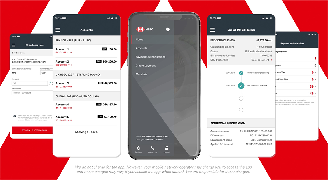 HSBCnet Mobile App with Face ID Easy Activation Demo