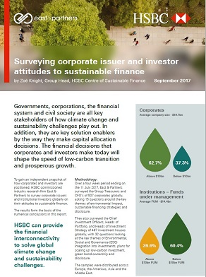 Surveying corporate issuer and investor attitudes to sustainable finance September 2017